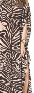 Michael Kors Brown & Ivory Zebra Flowing Dress XS